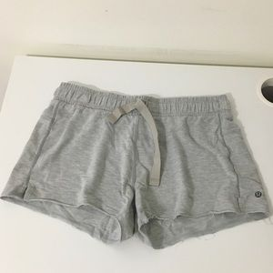 lululemelon grey cotton shorts